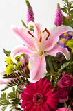 Lilly flower arrangement royalty free stock photos