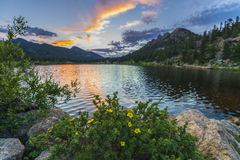 Lilly Lake At Sunset - Colorado Stock Image