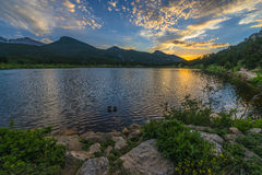 Lilly Lake at Sunset - Colorado Royalty Free Stock Photo