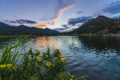 Lilly Lake at Sunset - Colorado Royalty Free Stock Photography