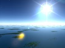 Lilly Pad湖 免版税库存图片