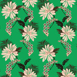 Lilly pattern seamless Stock Photos