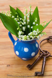 Lilly of the valley bouquet in pot Royalty Free Stock Photos