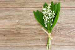 Lilly of the valley posy Royalty Free Stock Image