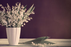 Lilly of valley in  vase Royalty Free Stock Images