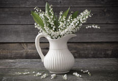 Lilly of valley in  vase Stock Image