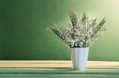 Lilly of valley in  vase Royalty Free Stock Photos