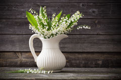 Lilly of valley in vase Royalty Free Stock Photo