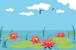 lilly vatten stock illustrationer