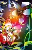 lilly vridet vektor illustrationer