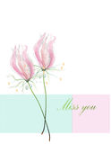 Lilly watercolor Royalty Free Stock Images