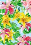 lilly wild aqua stock illustrationer