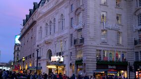 LillyWhites building at London Piccadilly Circus - LONDON, ENGLAND - DECEMBER 10, 2019