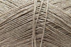 Lilnen knitting yarn background Royalty Free Stock Images
