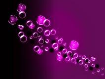 Lilor bubblar bakgrund Arkivfoton