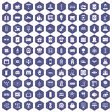 100 lilor för elektrotekniksymbolssexhörning Royaltyfria Bilder