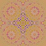 Lilor för guling för gräsplan för limefrukt för cirkelprydnadcitron som suddiga orange violetta centreras och Royaltyfria Bilder