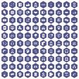100 lilor för sexhörning för symboler för appellmitt Royaltyfri Bild