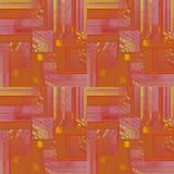 Lilor för violet för terrakotta för sömlös invecklad fyrkantmodellguling orange Arkivbild