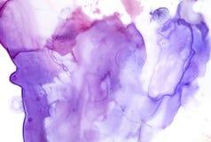 Lilor och rosa konstnärlig lutningbakgrund med abstrakta former och fläckar royaltyfri illustrationer