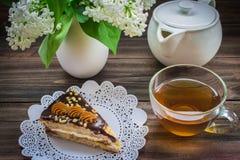 Lilor och te Arkivfoto
