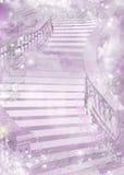 Lilor stillar den färgglade illustrationen av en stege - Arkivbild