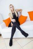 Lilor synad blondin Fotografering för Bildbyråer