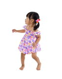 Lilttle girl with defensive posture Royalty Free Stock Photos