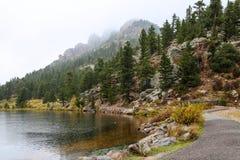 Lily湖第一雪 库存照片