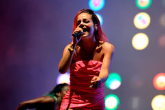 Lily Allen (famous singer) performs at FIB Festival Royalty Free Stock Photography