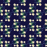 Lily bg. Seamless pattern with flowers Lily of the valle Royalty Free Stock Image