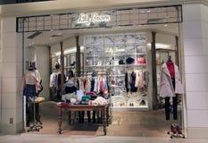 Lily Broun shop in hong kong. Lily Broun shop, located in Harbour City, Tsim Sha Tsui, Hong Kong. Lily Broun is a clothing retailer in Hong Kong stock photography