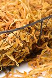 Lily Buds secada foto de stock