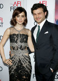 Lily Collins and Alden Ehrenreich Royalty Free Stock Photography