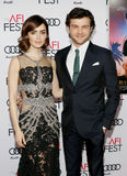Lily Collins and Alden Ehrenreich Stock Photography