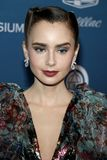 Lily Collins stock photo