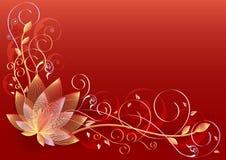 lily czerwony royalty ilustracja