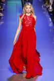 Lily Donaldson walks the runway during the Elie Saab show Royalty Free Stock Photos
