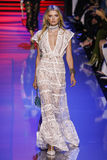 Lily Donaldson walks the runway during the Elie Saab show Royalty Free Stock Image