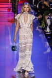 Lily Donaldson walks the runway during the Elie Saab show Royalty Free Stock Images