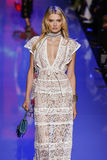 Lily Donaldson walks the runway during the Elie Saab show Stock Photo