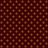 Lily Fleur de Lis Seamless Pattern real Vetor Fotos de Stock