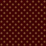 Lily Fleur de Lis Seamless Pattern reale Vettore Fotografie Stock