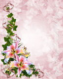 Lily Floral corner invitation stock photography