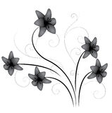 Lily Flourish. Beautiful lily flowers in flourish stock illustration