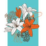 Lily flower abstract vector background, template Stock Photo