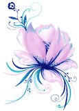 Lily Flower Decorative Element créative Illustration Libre de Droits