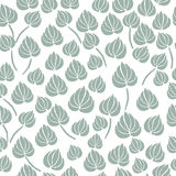 Lily flower leaf seamless pattern Royalty Free Stock Photo