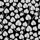 Lily flower leaf seamless pattern Stock Image