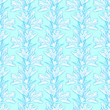 Lily flower pattern background. Simple flower texture. Lily endless background. Seamless pattern Stock Illustration
